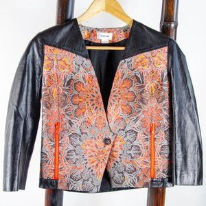Helmut Lang Jacquard Jacket with Leather Size 0